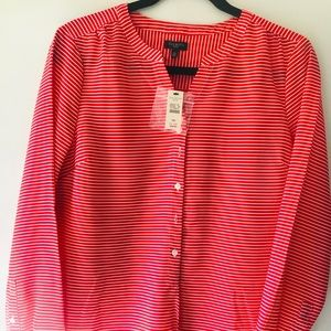 Talbot Red & White Stripped Blouse
